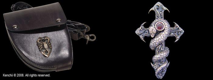 Kenchii Charmer Leather Holster - KECL3 Cross/Snake